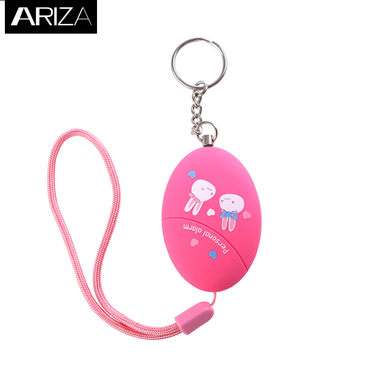 Ariza 120DB Portable Keychain Personal Alarm Anti-Rape Anti-Attack Personal Emergency Alarm Panic Alarm Safety Alarm for Women 5 pcs pink sos personal angel wings alarm anti attack protection safety personal security alarm system keychain