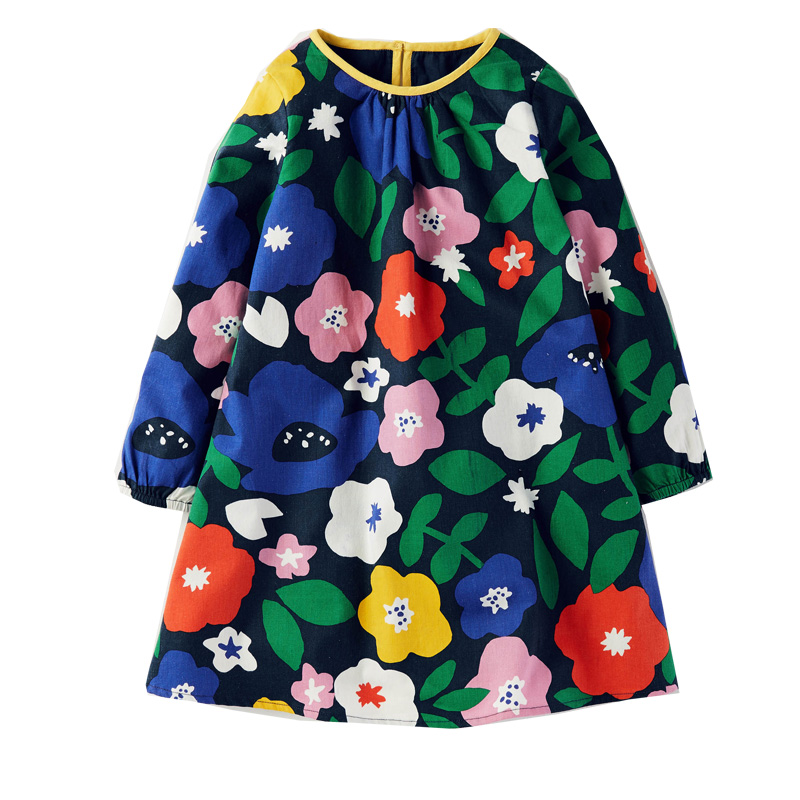 Jumping Meters Baby Girls Autumn Dress 100% Cotton Tunic Jersey Brand Vestidos Princess Dresses Kids Costume Children Clothes printed baby girls dress spring autumn long sleeve princess dress casual costume cotton girls dresses kids clothes tutu vestidos