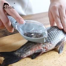 FHEAL рыбья кожа щетка соскабливание Рыбная чешуя щетка терки быстрое удаление рыбьего ножа Овощечистка, рыбочистка скребок кухонные инструменты