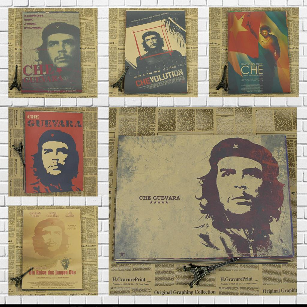 Super popular Che Guevara the spiritual leader of the historical famous figure motivational posters stickers retro kraft paper image