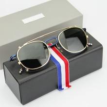 眼鏡フレームまたはサングラス男性と女性ファッションoptiacl目メガネTB710クリップレンズサングラスでオリジナルボックスoculos