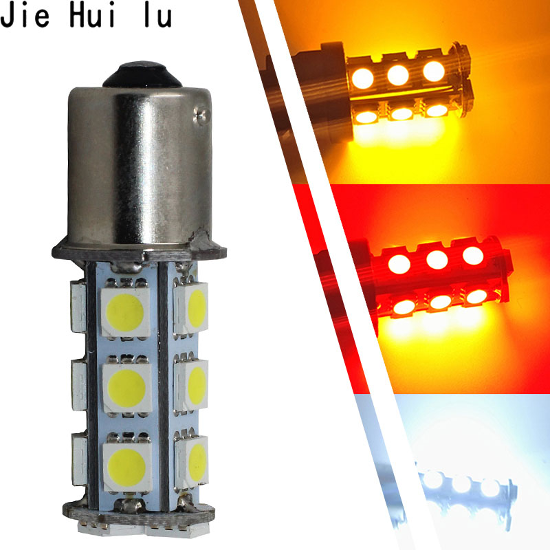 цена на 1 pcs Car 1156 1157 P21W BA15S 18 SMD 18SMD LED 5050 SMD Tail Brake Signal Side Light Bulb Reverse Lights Source Parking