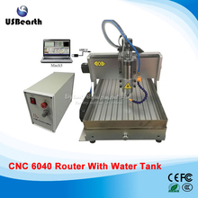 LY CNC 6040 Z-VFD 2.2KW USB 3 Axis Woodworking Machine with water tank , for stong metal wood