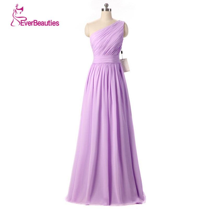Cheap Bridesmaid Dresses Long Under $50 One Shoulder A