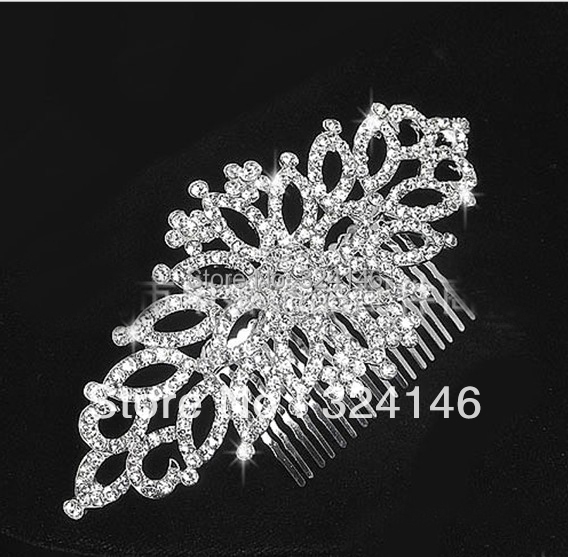 Top quality Gorgeous crystal hair comb for women Fashion crystal hairpins combs for women wedding hair accessories wholeasale