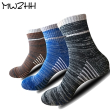 High Quality Men's Outdoor Sport Socks Thick Towel Hiking Socks keep Warm  Socks Men  Cotton High Rib Elastic Basketball Socks men outdoor sportswear winter socks thick towel bottom skiing socks protect ankle hiking walking athletic keep warm sports socks