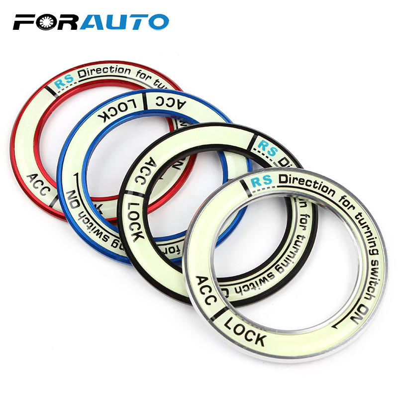 FORAUTO 3D Car Stickers Ring Circle Light Decoration Auto Accessories Car Ignition Switch Cover For 2014 COROLLA LEVIN Luminous