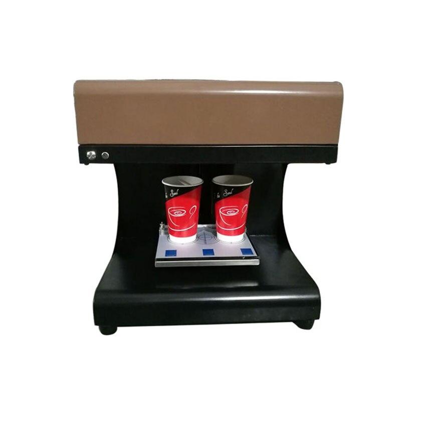 Nouvelle conception impression à grande vitesse 2 tasses latte art gâteau fleur café imprimante machine