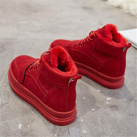 2018 winter shoes woman snow boots lace up genuine leather ankle boots winter shoes martin boots for woman