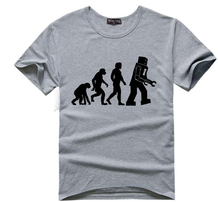 2d3b1b444 Summer Fashion Tees Evolution Motocross T Shirts Men Short Sleeve Cotton T- shirt Funny Dirtbike Clothing
