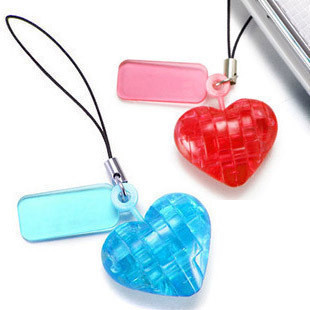 Free  shipping The trend of popular 3d puzzle love mobile phone chain keychain crystal building blocks