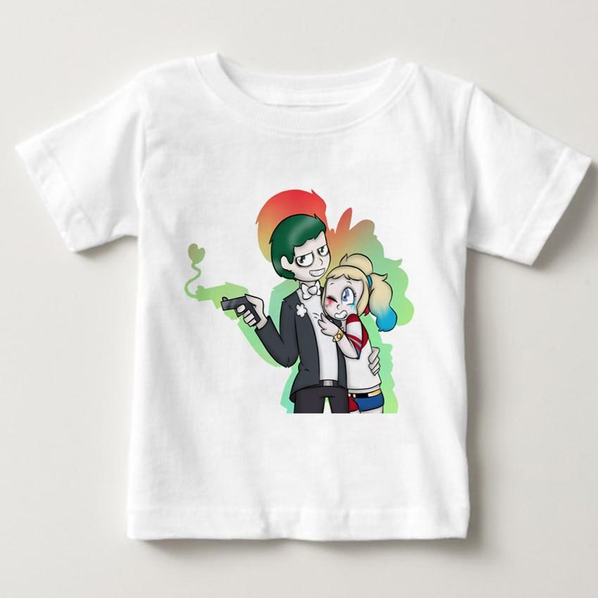 boy/girl Harley Quinn Deadpool T Shirt Superman The Joker Suicide Squad chirdren Tee Shirt Homme Camiseta Shirts Hip Hop Tees NN