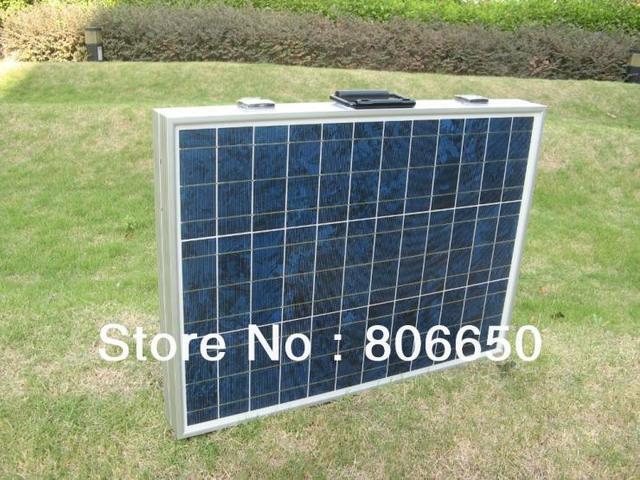 100W 18V Poly Polycrystalline Portable Folding Solar Panel  for  12v battery,  RV boat,car , free shipping