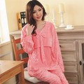 summer maternity  pajamas clothes 2016 nursing tops breastfeeding pajamas nightgown nursing  sleepwear for pregnant women pink
