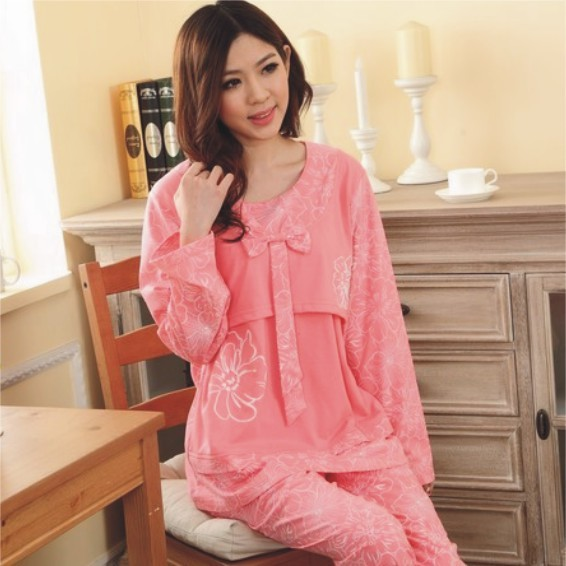 summer maternity pajamas clothes 2016 nursing tops breastfeeding pajamas  nightgown nursing sleepwear for pregnant women pink e3be1e512
