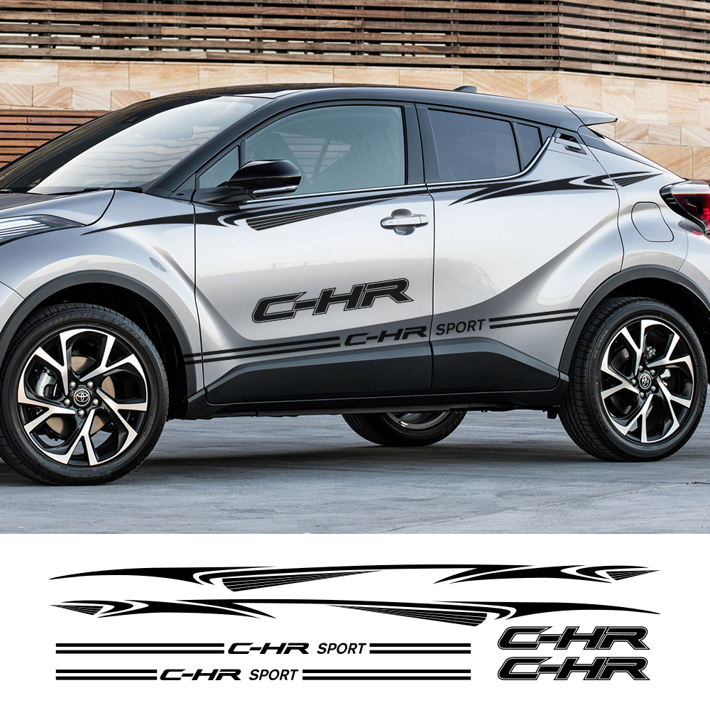 Door Side Car Stickers Long Stripe Auto DIY Vinyl Film Styling Decals Stylish Automobiles For Toyota Chr Tuning Car Accessories