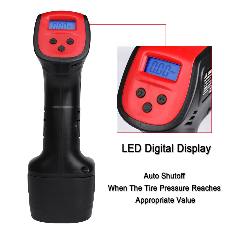 Image 4 - Air Compressor Digital LCD 110V 220V Cordless Portable Rechargeable Electric Bicycle Car Tire Wireless Pump Inflatable Pump-in Inflatable Pump from Automobiles & Motorcycles