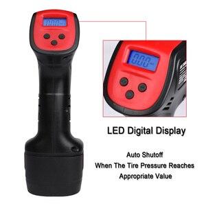 Image 4 - ضاغط الهواء الرقمية LCD 110 فولت 220 فولت اللاسلكي المحمولة قابلة للشحن دراجة كهربائية سيارة الإطارات مضخة لاسلكية نفخ مضخة