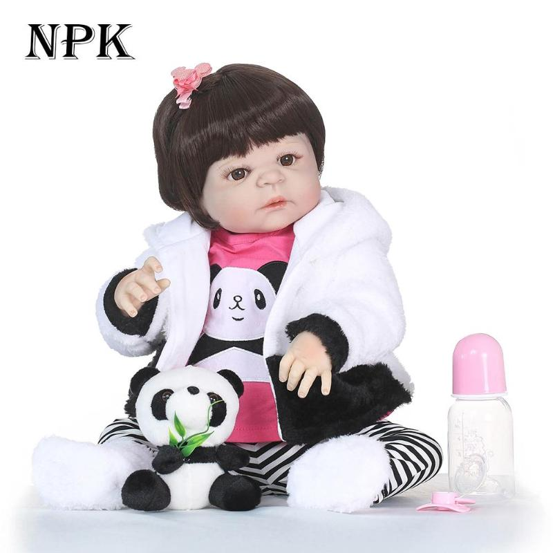 5 Styles NPK Lovely Reborn Baby Doll 55/56/60cm Imitation Newborn Girl non-toxic Soft Silicone Playmate Toy Christmas Gifts5 Styles NPK Lovely Reborn Baby Doll 55/56/60cm Imitation Newborn Girl non-toxic Soft Silicone Playmate Toy Christmas Gifts
