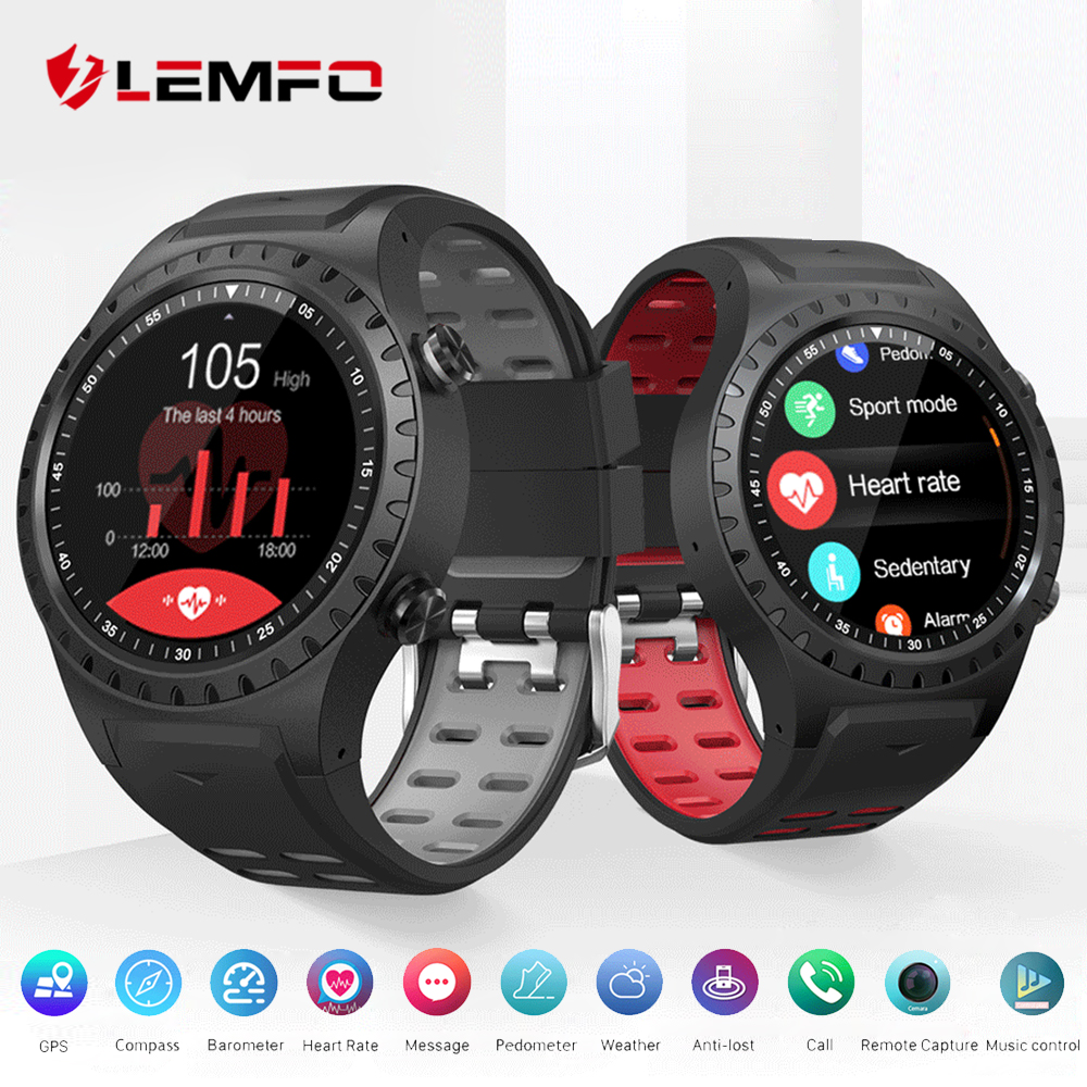 LEMFO M1 Smart Watch Support SIM & Bluetooth Phone Call GPS Smartwatch Phone Men Women IP67 Waterproof Heart Rate Monitor Clock-in Smart Watches from Consumer Electronics    1