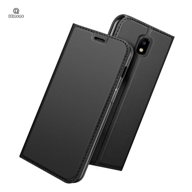 newest f2d67 5d15a US $8.99 25% OFF|Luxury Leather Flip Cover for Samsung Galaxy J7 2017 J730F  Wallet Case Business Book Cover J7 Pro Dual Sim Stand Capa Card Slot-in ...
