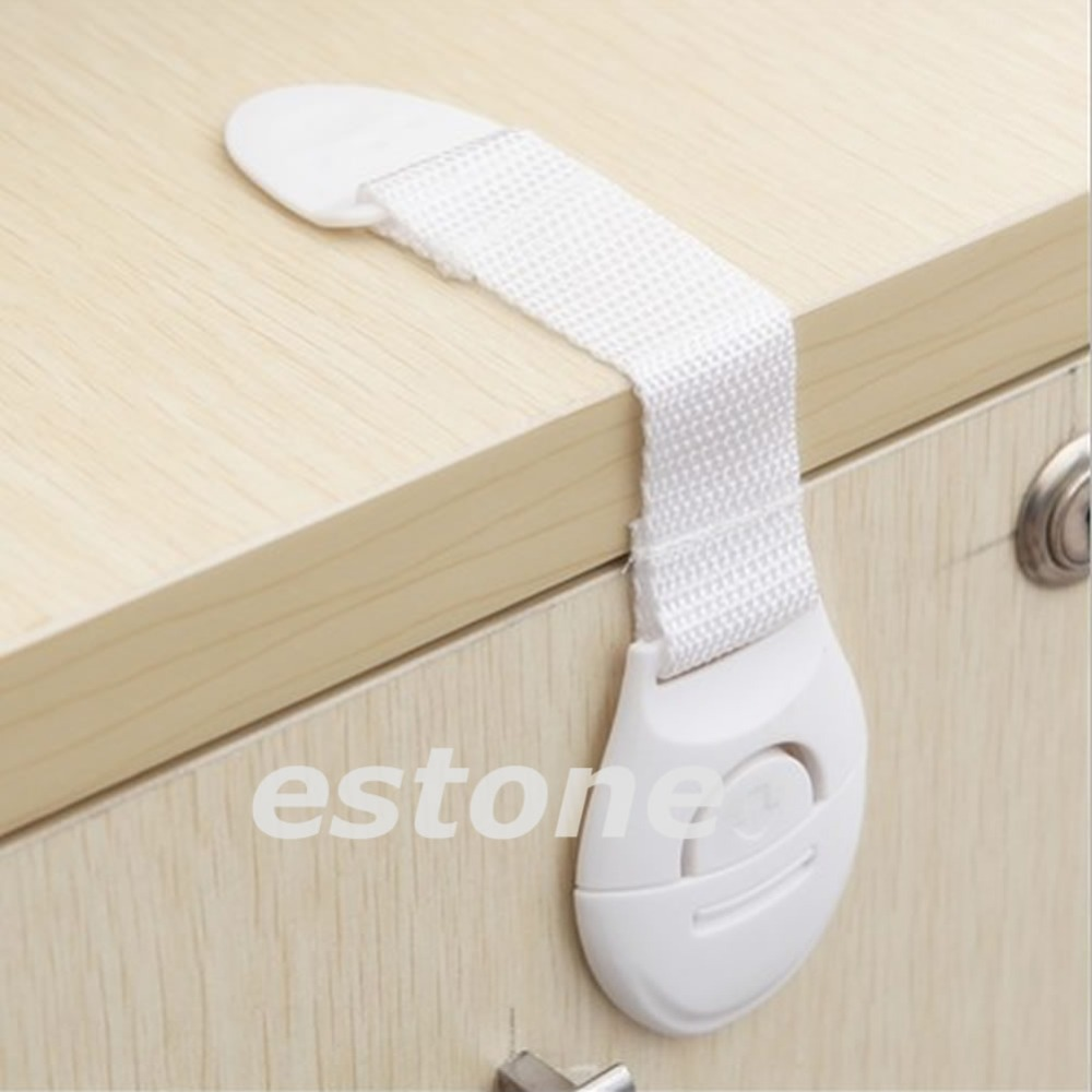 New 10 Pcs Baby Kids Child Toddler Safety Door Lock Drawer Toilet Cupboard Cabinet