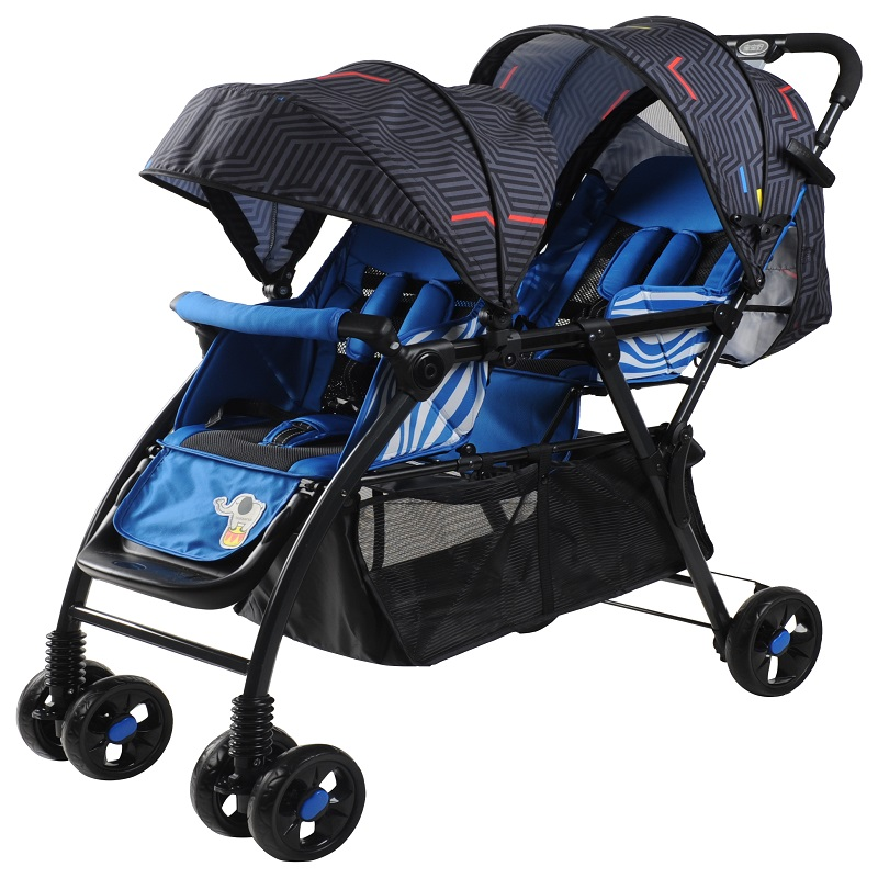 Multi functions double seats stroller,red and blue color,adjust to 0-36 baby double stroller red pink blue color twins infant stroller sale kids sleep comfortable more at ease sophisticated technologies