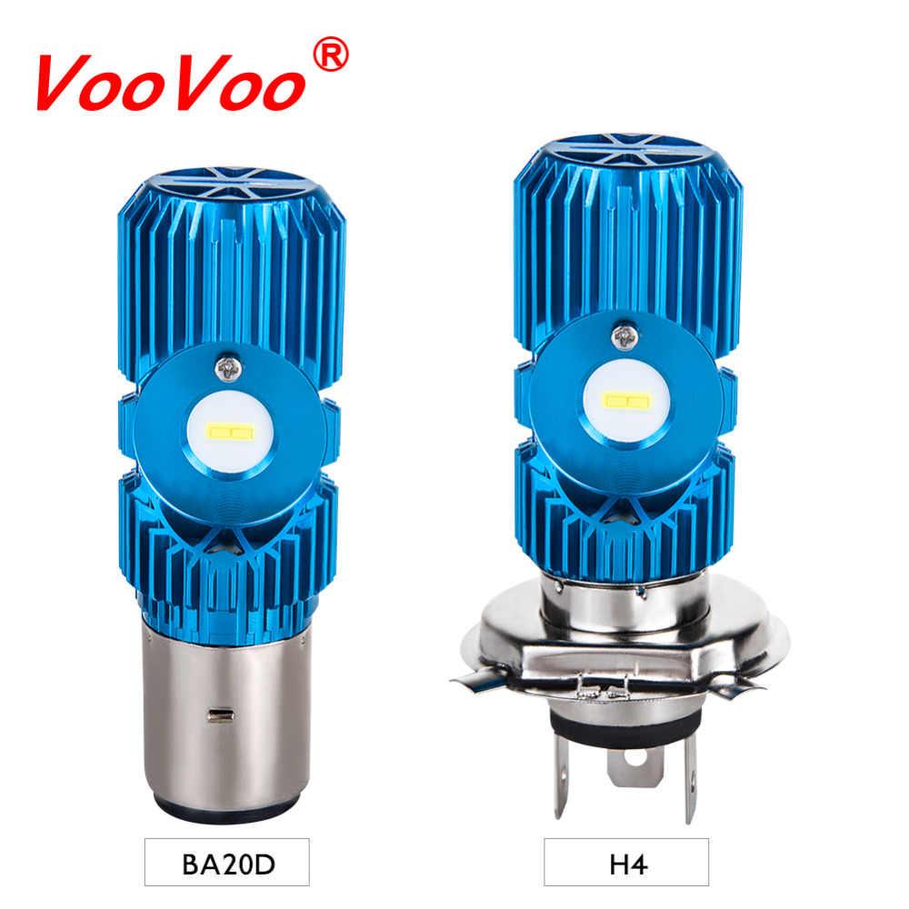 VooVoo LED H4 BA20D HS1 Moto אופנוע פנס נורות מנורת 2400LM 6000K 20W H4 Led אופנוע חשמלי רכב קטנוע תאורה