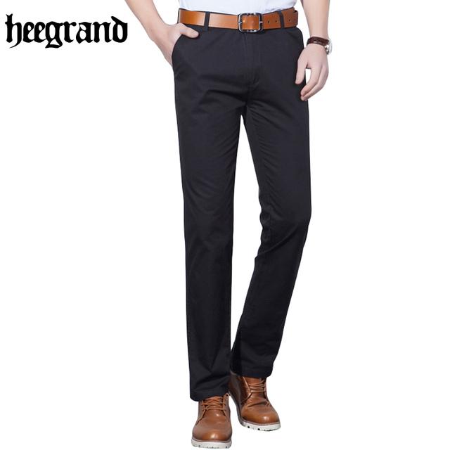 Hee grand 2017 verano otoño negocio de la moda o el estilo informal pantalones de Los Hombres Pantalones Largos Ocasionales Rectos Delgados Hombres de Moda Los Pantalones MKX997