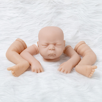 Newborn Doll Kit Handmade DIY Toys Supplies Reborn Doll Accessories Unpainted Parts Soft Vinyl Head 3/4 Limbs