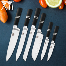 XYj Stainless Steel Knife Chef Kitchen Knives Set Fruit Vegetable Meat Cooking Tools Accessories Japanese Slicing