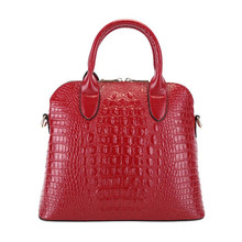 ZKW European Style 2019 Real Genuine Leather Women Handbag Ladies Handbags Crocodile Luxury Ladie Shoulder Messenger Bag Elegant