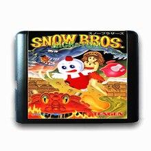 Bros neve Nick & Tom de 16 bits da Sega MD Cartão de Jogo para o Mega Drive para Genesis