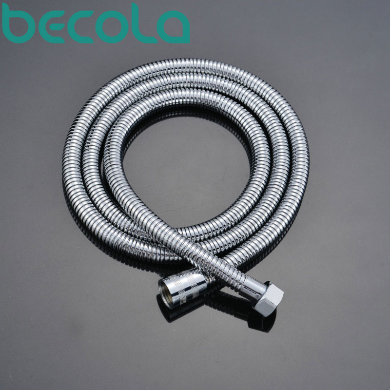 Becola Free Shipping 150cm Rose Gold Hose Black Antique Brass Plumbing Hoses Shower Pipe Chrome Shower Hose B-150
