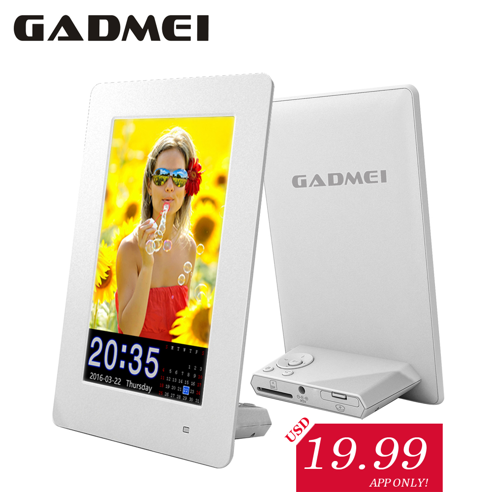 New Fashion 6 inch Vertical Hi definition Digital Photo Frame with Clock Calendar function font b