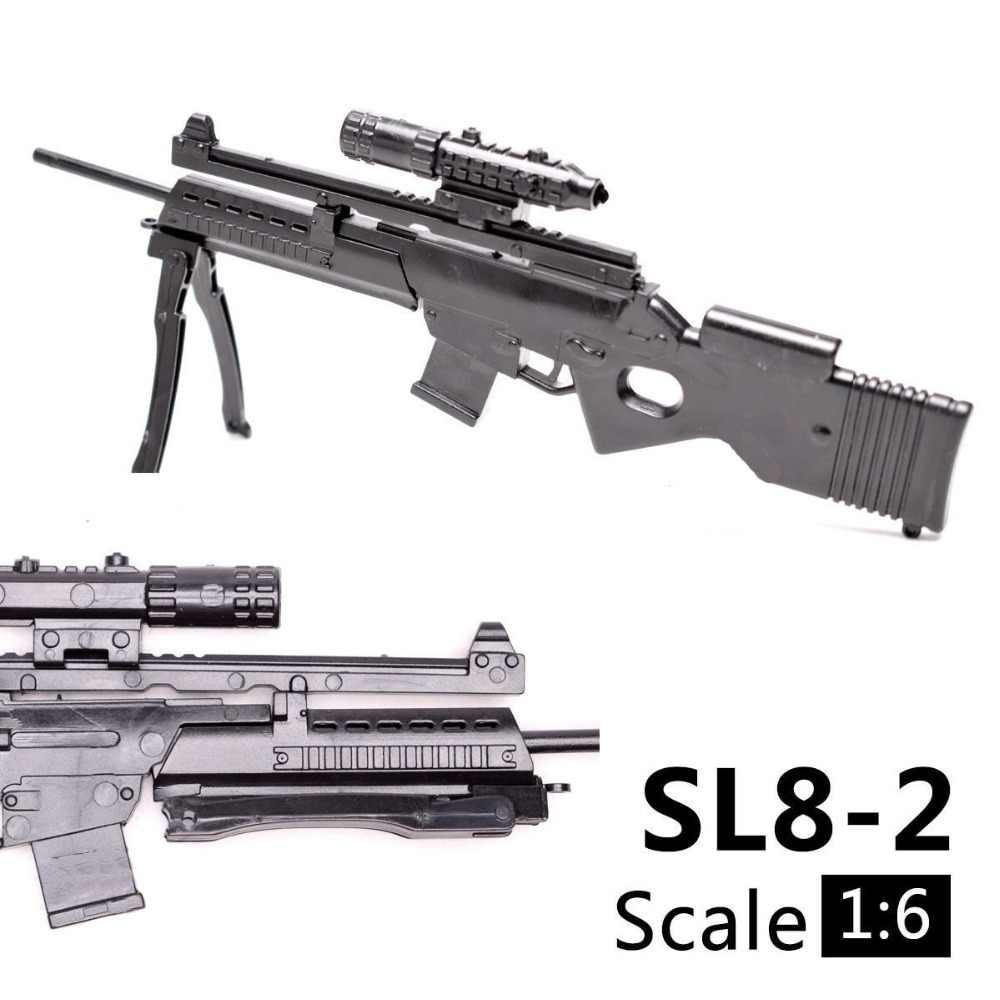 1:6 1/6 skala 12 cal Action Figures karabin SL8-2 Sporting Rifle Mini Model pistolet-zabawka wykorzystanie do 1/100 MG Bandai Gundam Model dzieci zabawki