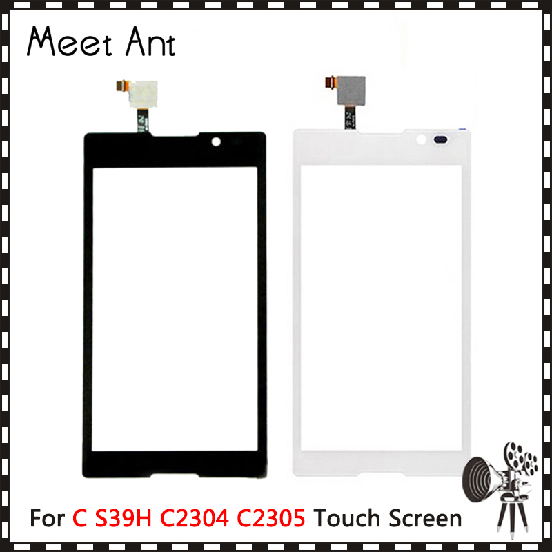 High Quality 5.0 For Sony Xperia C S39H C2304 C2305 Touch Screen Digitizer Front Glass Lens Sensor Panel