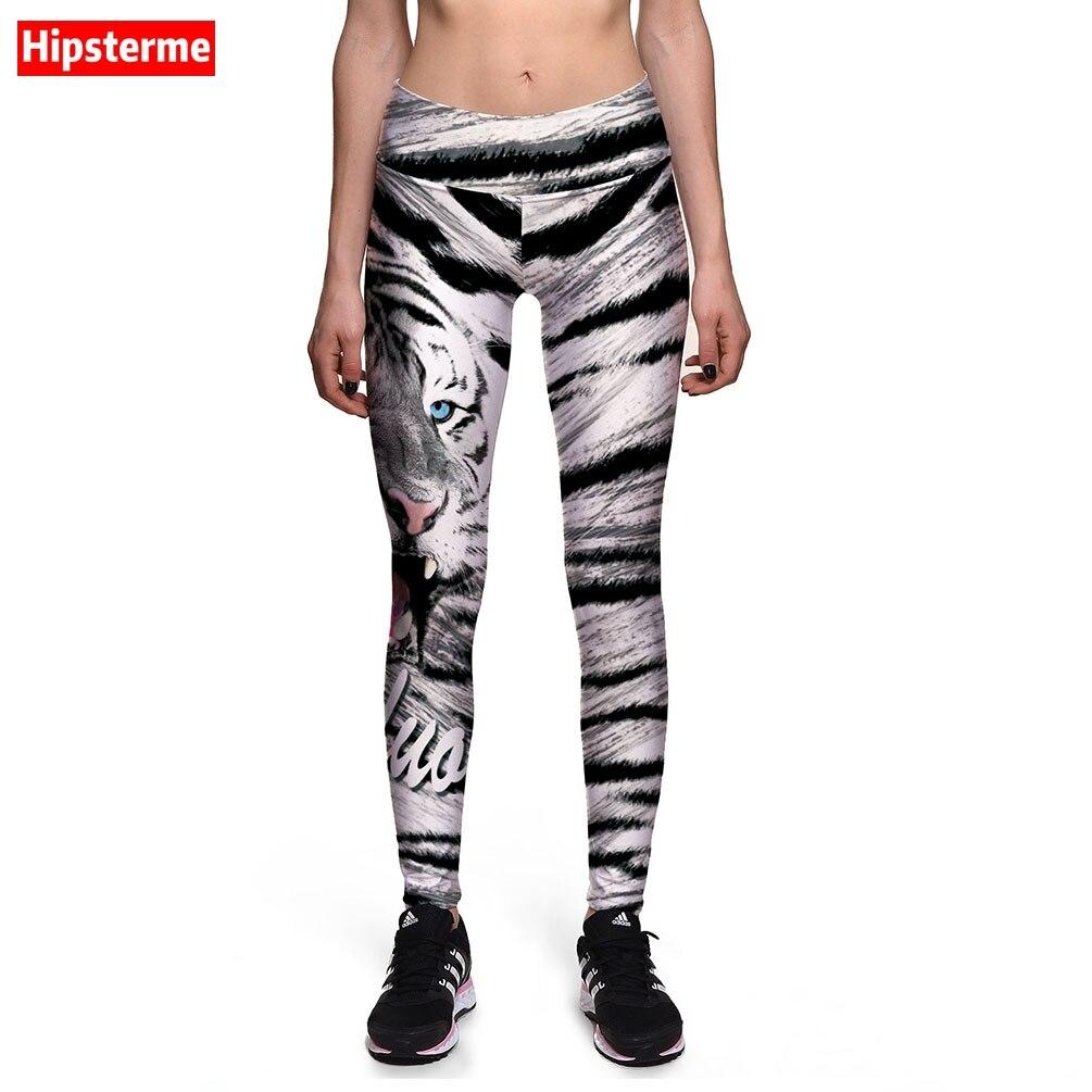 ᗔhipsterme leggings nova marca de moda black white stripes tiger 3d