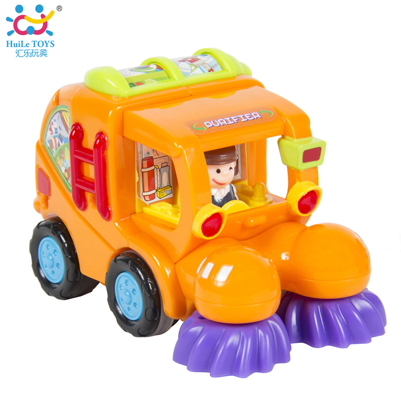 1pc baby toy happy professional cartoon car kid engineers city crew friction push and go powered