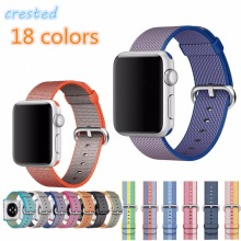 CRESTED Woven Nylon strap band for apple watch band 42 mm 38 mm sport bracelet & fabric nylon watchband watch Accessories