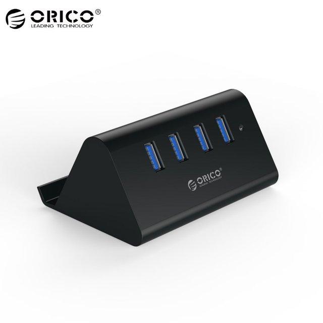 ORICO SHC-U3 Высокая Скорость 4 Порт USB 3.0 Hub ABS мощность Multi-безопасность Защита HUB Connect Для Mac ОС Windows XP
