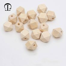 Natural Wooden Spacer Beads Octagon Eco-Friendly Loose Wood Bead DIY Crafts supplies Jewelry Making Accessories