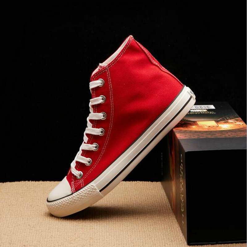 цена на New Arrival Summer Fashion Girl Flats Shoes All Black White red Casual Shoes Women Canvas Shoes Lace-Up high top shoes NN-1414