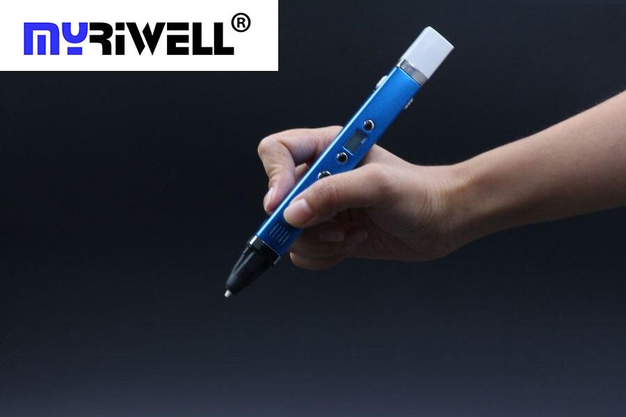 ФОТО Creative 1.75mm ABS/PLA DIY Metal USB 3D Printing Graffiti Pen LED/LCD Screen 3D Pen Painting Pen Handle For Kids Drawing Design