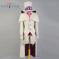 Ao no Blue Exorcist Mephisto Pheles Anime Halloween Cosplay Costume Men Top Suit Pants Cap Free Shipping