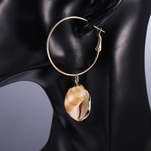 Bohopan 2019 New Sea Ocean Shell Earrings For Women Round Gold White Dangle Long Beach Jewelry Gift Party