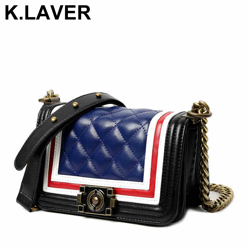 K.LAVER Women's Chains Casual Clutch Handbags Crossbody Bags For Women Messenger Bags Bolsa Brand Female Tote Shoulder Bag Purse 2018 women messenger bags vintage cross body shoulder purse women bag bolsa feminina handbag bags custom picture bags purse tote
