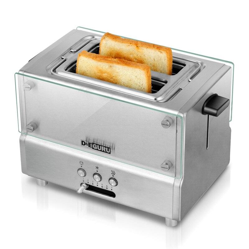 Entièrement Automatique 220 V UE Plug Ménage Grille-Pain Cuisine Petit Déjeuner Grillage Machine Grillé Maker Double Slots Toast Cuisson Machine