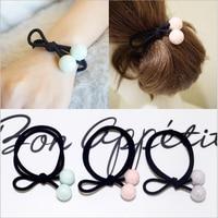 5 teile/los Schöne Warme Künstliche Ball wear Elastischen Seil Haarbänder Krawatten Für Frauen Haar-accessoire Gummiband