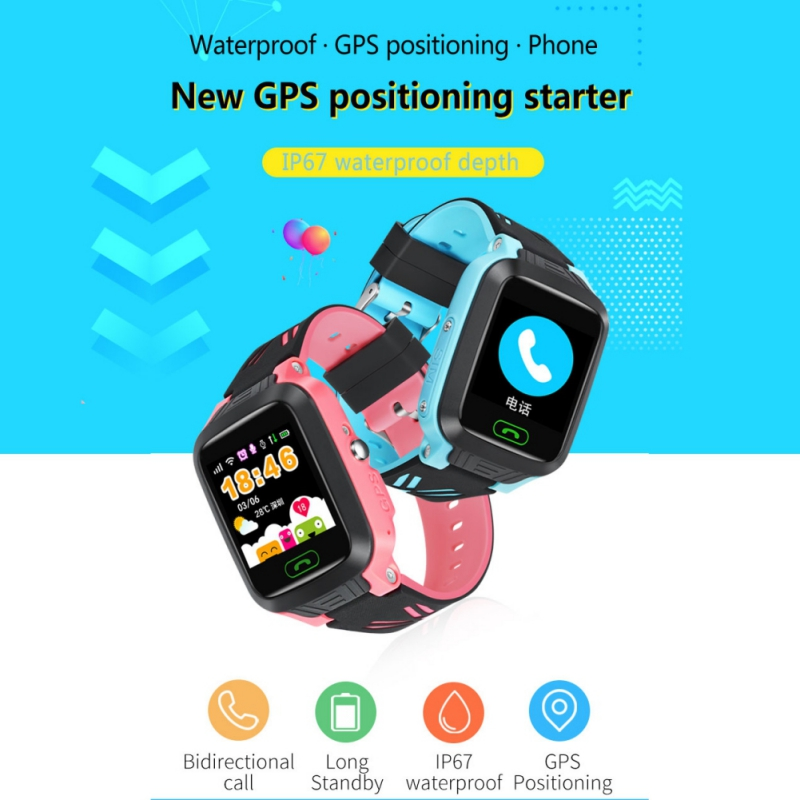 Cute Kids Smart Watch GPS Children 2G SIM Calls Chat Anti lost SOS Remote Safety Monitor For Android IOS in Smart Watches from Consumer Electronics